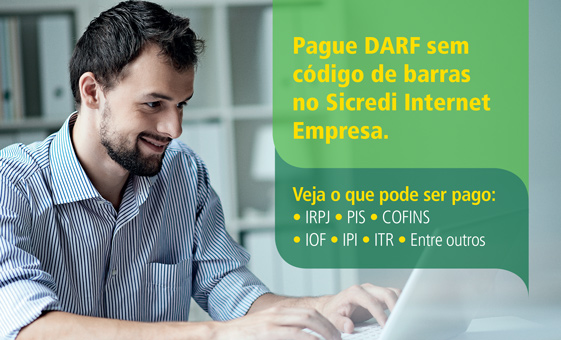 Pague a DARF pelo Sicredi Internet Empresa